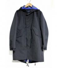 COMME des GARCONS HOMME(コムデギャルソンオム)の古着「エステルウールストライプモッズコート」|グレー