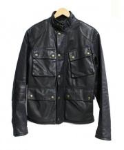 POLO RALPH LAUREN(ポロ ラルフローレン)の古着「モーターサイクルレザージャケット」|ブラック