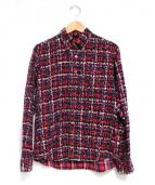 uniform experiment(ユニフォーム エクスペリメント)の古着「ネルシャツ」|レッド×ブルー