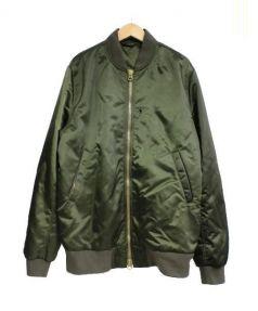 ACNE STUDIOS(アクネ ストゥディオズ)の古着「Selo Bomber Jacket ジャケット」|カーキ