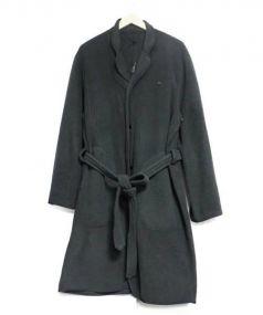 PORTER CLASSIC(ポータークラシック)の古着「FLEECE GOWN COAT ジャケット」|ブラック
