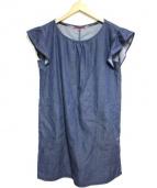 BLUE LABEL CRESTBRIDGE(ブルーレーベルクレストブリッジ)の古着「S/Sデニムワンピース」|インディゴ