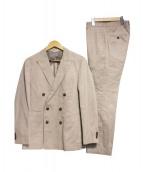 HUGO BOSS(ヒューゴボス)の古着「ダブルセットアップスーツ」 ベージュ