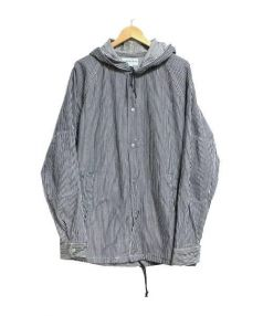SASSAFRAS(ササフラス)の古着「ヒッコリーカバーオール」|ネイビー×ホワイト