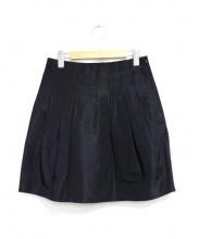POLO RALPH LAUREN(ポロ バイ ラルフローレン)の古着「タックフレアスカート」|ブラック