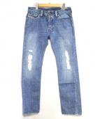 DIESEL(ディーゼル)の古着「SAFADOダメージ加工デニムパンツ」|インディゴ