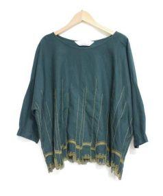 mina perhonen(ミナ ペルホネン)の古着「「waltz」ブラウス」 グリーン×イエロー