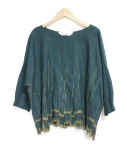 mina perhonen(ミナ ペルホネン)の古着「「waltz」ブラウス」|グリーン×イエロー
