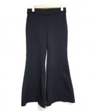AKIRA NAKA(アキラナカ)の古着「ニットフレアパンツ」|ブラック