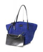 clare vivier(クレアヴィヴィ)の古着「Sisal Kenya Tote バッグ」|ブルー