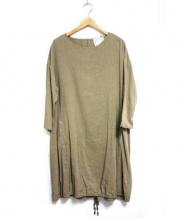 BEARDSLEY(ビアズリー)の古着「裾縛りワンピース」 ベージュ