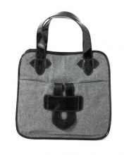 TILA MARCH(ティラマーチ)の古着「ウールハンドバッグ 」 グレー