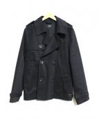 A.P.C(アーペーセー)の古着「コットンPコート」|ブラック