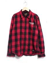 BUENA VISTA(ブエナ ビスタ)の古着「DRAGON BLOCK shirt シャツ」|レッド×ブラック