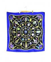 HERMES(エルメス)の古着「シルクスカーフ」|ブルー×ブラック