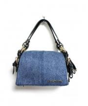 JILL STUART(ジルスチュアート)の古着「ミニショルダーバッグ」|ブルー×ブラック