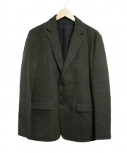TOMORROW LAND(トゥモローランド)の古着「ギャバリーツイルテーラードジャケット」|オリーブ