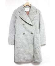 ef-de(エフデ)の古着「ビジューボタンダブルコート」|グレー