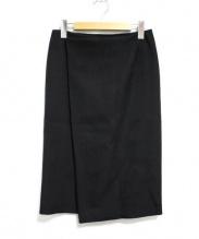 Deuxieme Classe(ドゥーズィエムクラス)の古着「ダブルクロスラップスカート」|ブラック