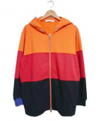 GIVENCHY(ジバンシー)の古着「17AW Color Block Zip Up Hoodie」|オレンジ×レッド