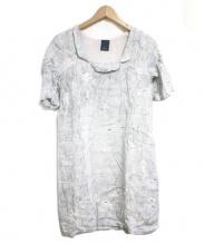 mina perhonen(ミナ ペルホネン)の古着「DAY BREAK DRESS ワンピース」|ライトブルー