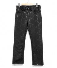 ISSEY MIYAKE(イッセイミヤケ)の古着「型押しジャージィパンツ」|ブラック
