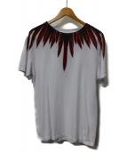 MARCELO BURLON(マルセロバーロン)の古着「フェザーTシャツ」|ホワイト×レッド