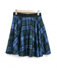 ONEIL OF DUBLIN(オニール オブ ダブリン)の古着「サーキュラーミニスカート」|ブルー×グリーン