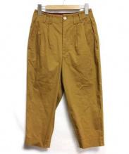 Dulcamara(ドゥルカマラ)の古着「ハイウエストクロップドパンツ」 ベージュ