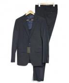 COMME CA MEN(コムサメン)の古着「ポリスト小紋ドビーセットアップスーツ」 ダークネイビー