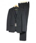 COMME CA MEN(コムサメン)の古着「ポリスト小紋ドビーセットアップスーツ」 ブラック
