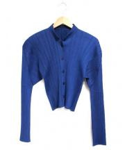 PLEATS PLEASE(プリーツ・プリーズ)の古着「オールドプリーツシャツ」 ダークブルー
