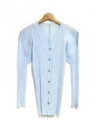 PLEATS PLEASE(プリーツプリーズ)の古着「L/Sプリーツシャツ」|ライトブルー