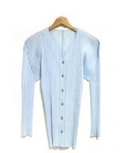 PLEATS PLEASE(プリーツプリーズ)の古着「L/Sプリーツシャツ」 ライトブルー