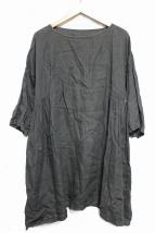 nest Robe(ネストローブ)の古着「ワイドリネンワンピース」|オリーブ
