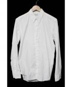 JOHN LAWRENCE SULLIVAN(ジョンローレンスサリバン)の古着「BASIC FLY FLONT SHIRT シャツ」|ホワイト