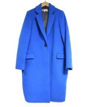ENFOLD(エンフォルド)の古着「ライトメルトンテーラーラクーンコート」|ブルー
