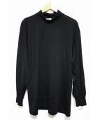 COMME des GARCONS HOMME(コムデギャルソンオム)の古着「92'Sハイネックウールカットソー」|ブラック
