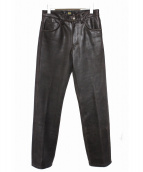 LEE RIDERS(リー ライダース)の古着「レザーパンツ」