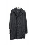 Aquascutum(アクアスキュータム)の古着「Black Packawayステンカラーコート」|ブラック