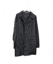 Aquascutum(アクアスキュータム)の古着「Black Packawayステンカラーコート」 ブラック