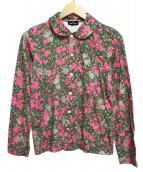 tricot COMME des GARCONS(トリココムデギャルソン)の古着「コットンL/Sシャツ」|ピンク×ブラウン×グリーン