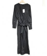 MAISON DE REEFUR(メゾン ド リーファー)の古着「ガウンシャツワンピース」|ブラック