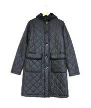 MACKINTOSH(マッキントッシュ)の古着「フーデッドキルティングコート」|ブラック
