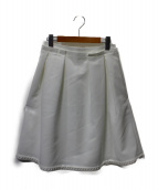 COTOO(コトゥー)の古着「タックスカート」|ホワイト