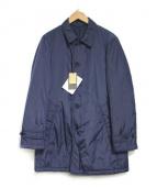 COMME CA MEN(コムサメン)の古着「ナイロンタフタサーモア中綿コート」 ネイビー