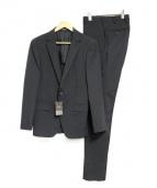 COMME CA MEN(コムサメン)の古着「ポリエステルストレッチカラーセットアップスーツ」|ブラック