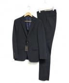 COMME CA MEN(コムサメン)の古着「ポリスト小紋ドビーセットアップスーツ」|ネイビー