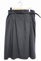 evam eva(エヴァムエヴァ)の古着「コットンネップスカート」|チャコールグレー