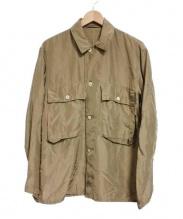 COMOLI(コモリ)の古着「シルクユーティリティーシャツジャケット」|ベージュ